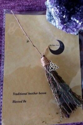 Witches Besom altar broomstick Wicca miniature broom pagan