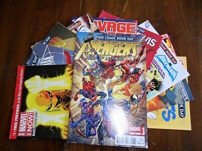 Lot of 10 Free Comic Book Day - New Mutants, Age of Ultron, Marvel NOW Spiderman