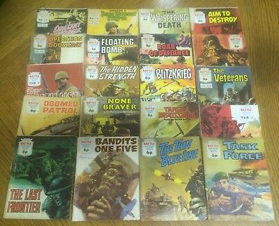 20 Battle Picture Library War Books Magazines Early 70's Commando War Etc
