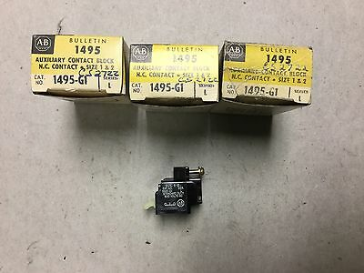 Allen Bradley 1495-G1 Auxiliary Contact Block - Lot of 3 NIB