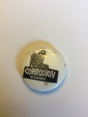 Rare Punk Rock Music Button Pin Collectible  Corrosion Of Conformity Group