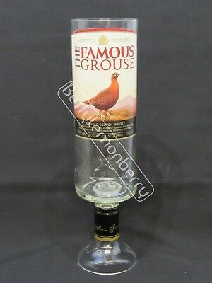 Famous Grouse Scotch Whisky Large Stemmed Chalice Glass / Vase - 100% Recycled!
