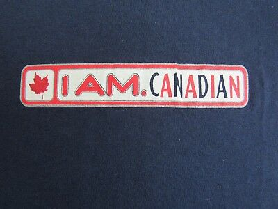 Molson Canadian Men's T-Shirt Large Vintage I Am Canadian Beer Drinkers Canada