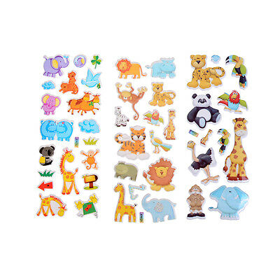 Kids Toys Cartoon Cute Animals Zoo 3D Stickers Children Girls Boys PVC StickerI+