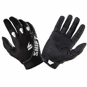 Shift Assault Motocross Gloves Black Bmx Mtb Atv Off Road Sizes S M L Xl Xxl New