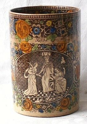 C19Th Prattware Tankard With A Classical Picture