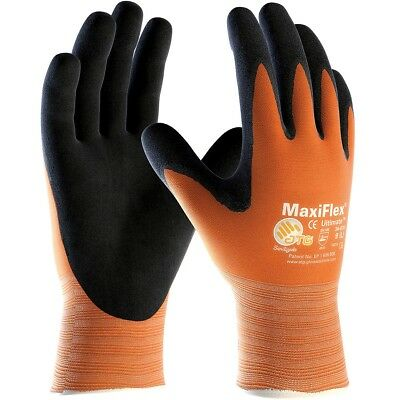 MaxiFlex Ultimate Nitrile Foam Coated Nylon Work Gloves, Orange