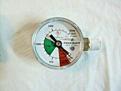 Gauge, Right Connection, 0/2000 PSI