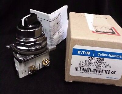 NEW EATON Cutler Hammer C-H 2 pos Maintained Selector Switch  10250T20KB NO/NC