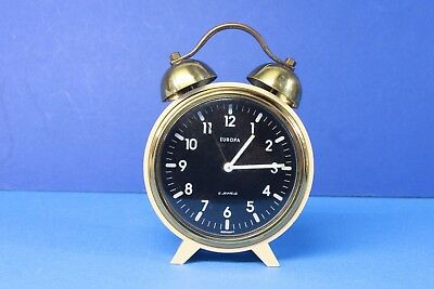 EUROPA , vintage  mech. alarm clock with two jewels. (ref A 202)