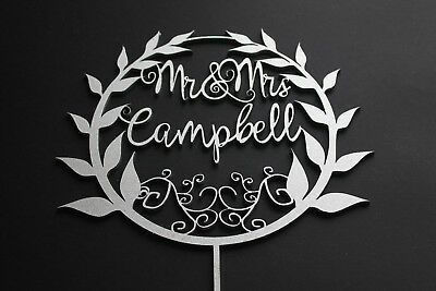 Cake Topper Birthday Custom Personalised Name is Age Solid Wood