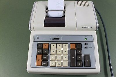 Lloyd's E 103, vintage office calculator with printer. (ref A204)