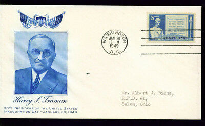 1949 Harry S Truman Inauguration Day Cover = DC Cancel = Art Craft Cachet