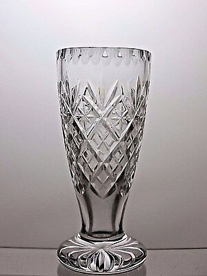 Royal Doulton Small Lead Crystal Cut Glass Vase - Marked