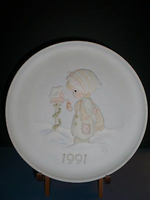 Enesco 1991 Precious Moments Christmas Plate by Sam Butcher