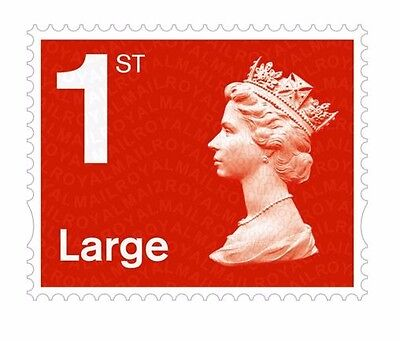 Royal Mail 1st Class Large Letter Self Adhesive Postage Stamps