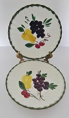 Blue Ridge Southern Potteries Dinner Plates Fruit Fantasy Hand Painted Two