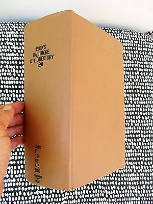 1891 BALTIMORE CITY DIRECTORY Maryland w/ EVERY RESIDENT'S NAME, ADDRESS & TRADE