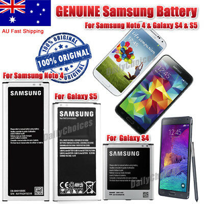 ORIGINAL GENUINE OEM  Battery For Samsung Galaxy S4 S5 NOTE4 Long Stand AU Stock