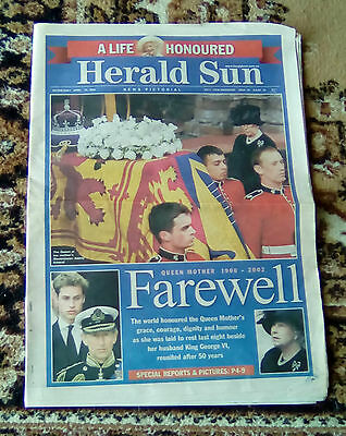 Herald Sun Lift-Out - Death Of The Queen Mother - Farewell - A Life Honoured
