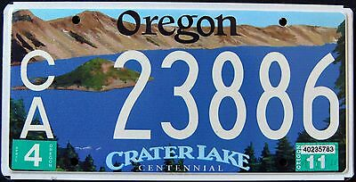 """OREGON """" CRATER LAKE NATIONAL PARK - CENTENNIAL """" OR Specialty License Plate"""