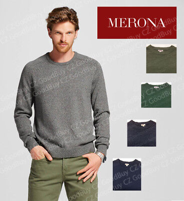 Merona Solid Crew Neck Sweater Long Sleeves Pullover