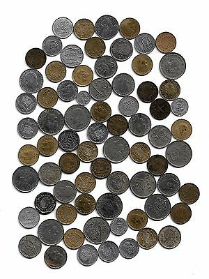Spain: Mixed Lot of 70 Spanish Coins, Various Dates