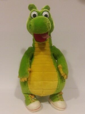 """Dragon Tales Productions  Dudley the Dragon Green Stuffed Doll RARE Vintage 16"""""""