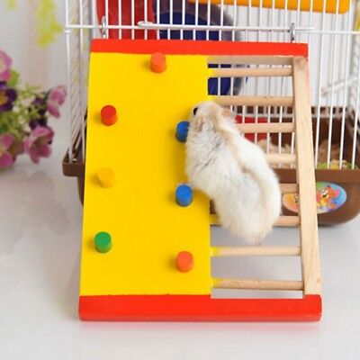Pet Rat Hamsters Ladder Toys Wooden Natural Jumping Scaling Climbing Play Toy