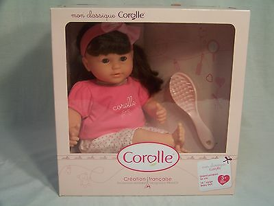 Corolle Large 14 inch Mon Classique Brunette Baby Doll New In Box!