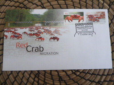 Christmas Island fdc 2014 Red Crab Migration