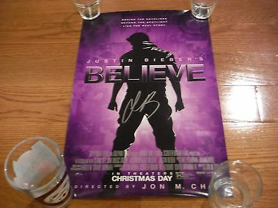 Justin Bieber  Autographed Poster 11x17 Believe Hand Signed