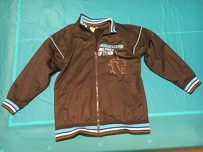 BART SIMPSON Boys Brown ZIP UP JACKET THE SIMPSONS Size 12