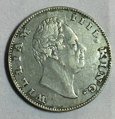 British India: East India Company One Rupee Coin 1835 ( RS Incuse)