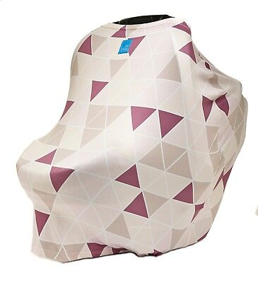 Premium Stretchy Car Seat Cover Canopy | Nursing Cover for Breastfeeding Moms