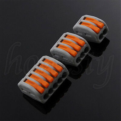 5/10/50X Spring Lever Push Fit Reusable Cable 2 3 5 Way Wire Connector For Wago