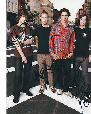 All American Rejects Autographed Photo Signed 8X10 #2 Tyson Nick Mike Chris