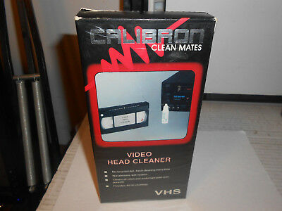 CALIBRON VCR VIDEO Head Cleaner VHS Tape NEW SEALED CLEAN MATES / VC 320