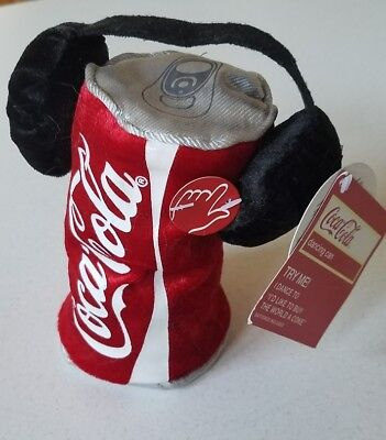 "COCA-COLA Singing  Dancing Can plush DOLL ""I'd Like to Buy the World a Coke"" New"