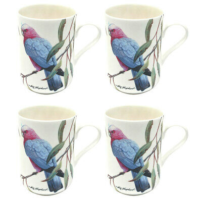 4PK Maxwell and Williams Birds of Australia Coffee/Tea Mug/Cup 300ML Pink Galah