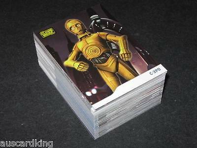 Star Wars - Clone Wars - Complete Card Set (90) - 2008 Topps - NM