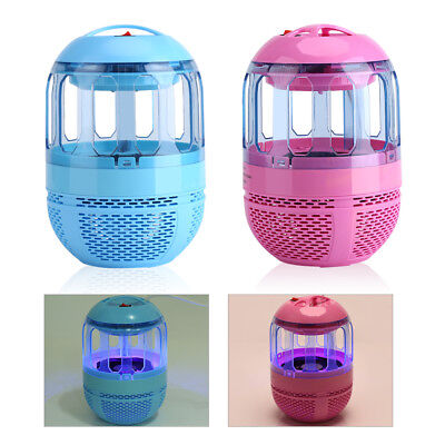 220V Electric Airflow Inhalant Mosquito Killer Lamp LED Fly Pest Control Light