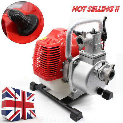 Petrol Water Drainage Pump 2 Stroke 1.7Hp 43Cc Engine Flood Cellar Pum Uk