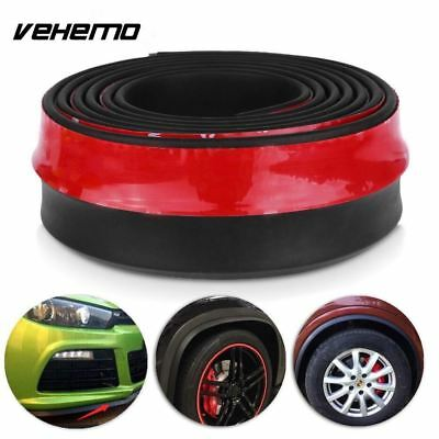 2.5M Universal Car Protector Front Bumper Lip Splitter Body Kit Bumpers Valance