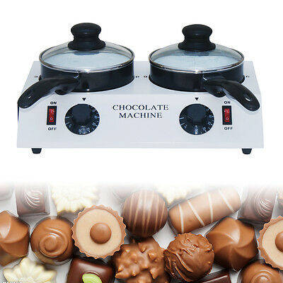 Twin-Chocolate Tempering Cylinder Melting Machine Non-stick Pot ,White New