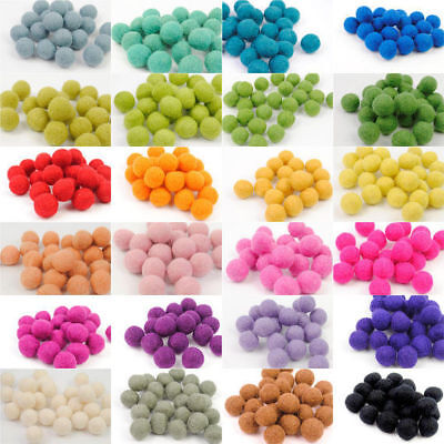 Christmas pom pom felt balls Bright colors woolen beads craft Garland making kit