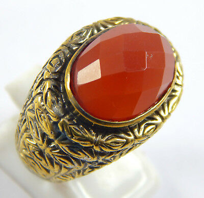 Fantabulous Offers ! 925 Silver Overlay Gifted Ring with Carnelian Gemstone 8US