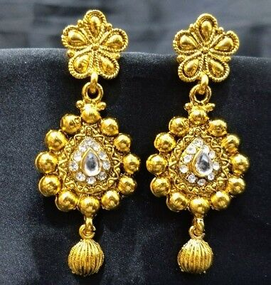 South Indian Fashion Style Gold plated ethnic Women Earring LCER_0917_215
