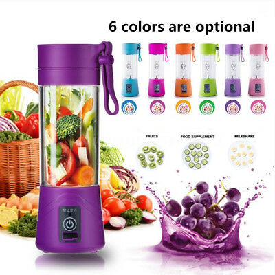 Portable USB Electric Juice Blender Food Processor Smoothie Maker Sport Bottle
