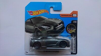 HOT WHEELS 2017 '17 NISSAN GT-R (R-35) 364 short card H NIGHTBURNERZ 1/10 DVC50